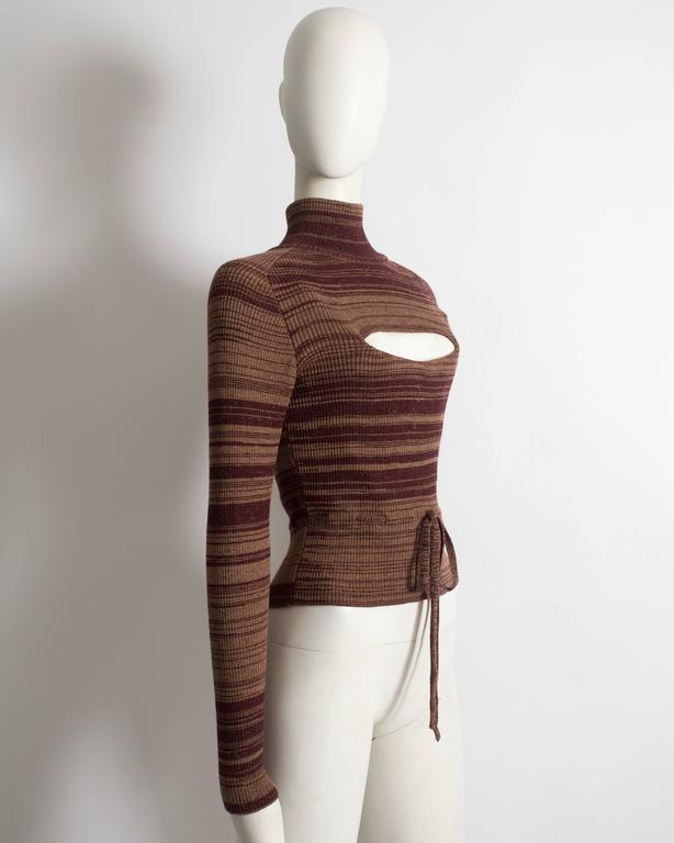 Vivienne Westwood striped wool sweater with corset 4