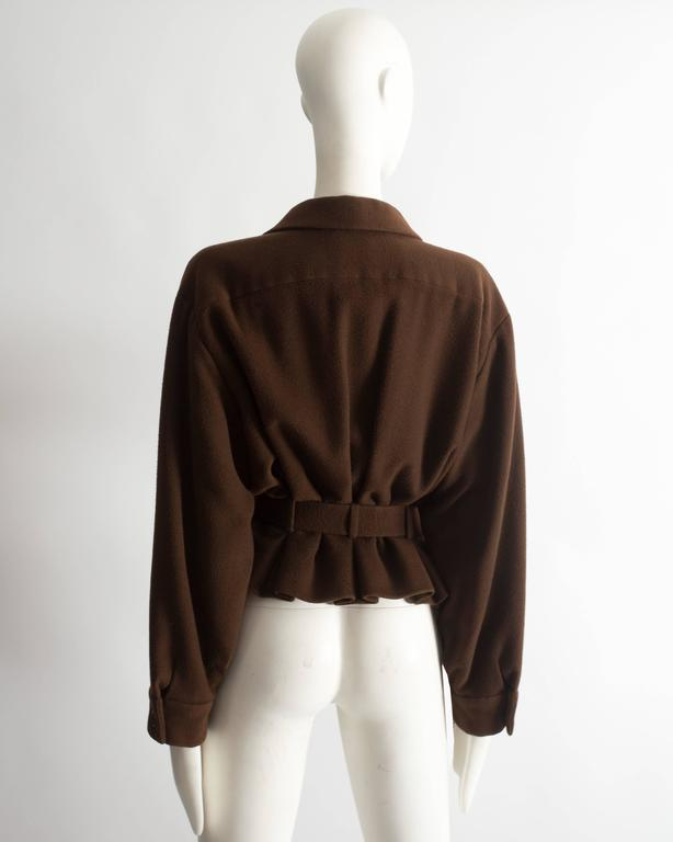Christian Dior Haute Couture brown cashmere wool jacket, AW 1988 6