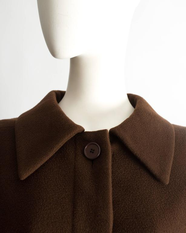 Christian Dior Haute Couture brown cashmere wool jacket, AW 1988 5