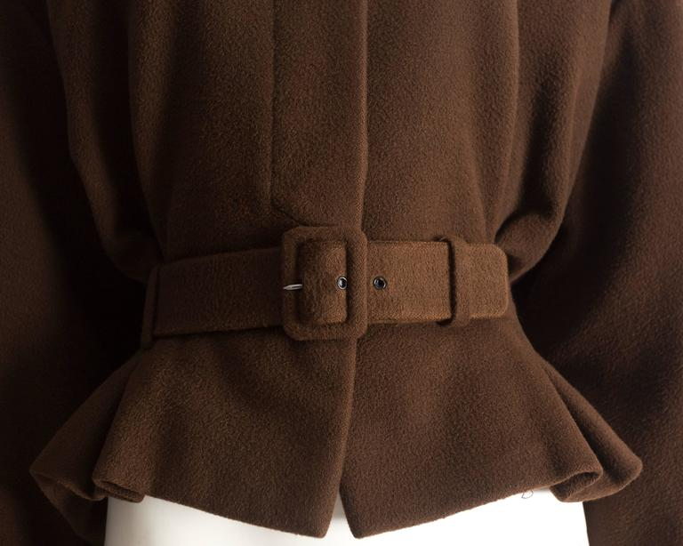 Christian Dior Haute Couture brown cashmere wool jacket, AW 1988 4