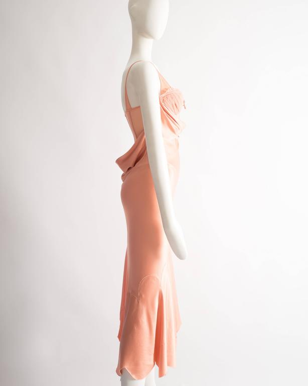 Alexander McQueen bias cut silk lingerie evening dress, Spring-Summer 2004 For Sale 3