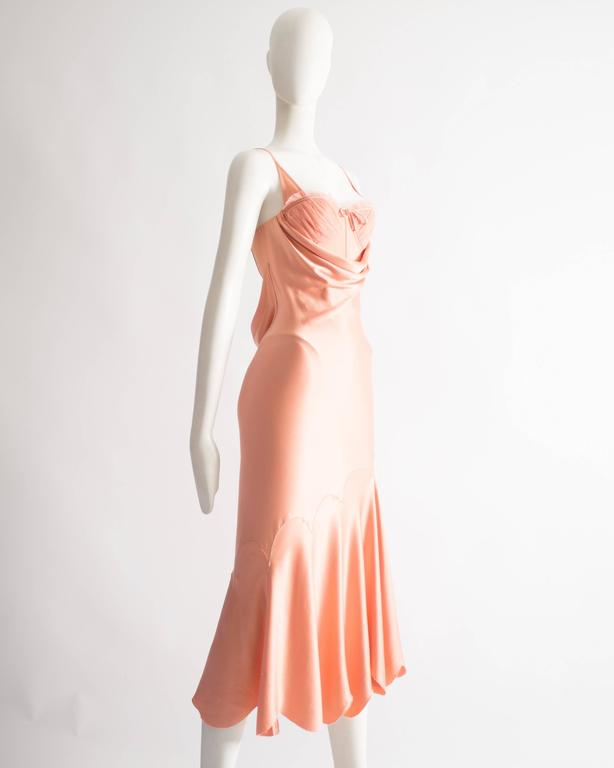 Women's Alexander McQueen bias cut silk lingerie evening dress, Spring-Summer 2004 For Sale