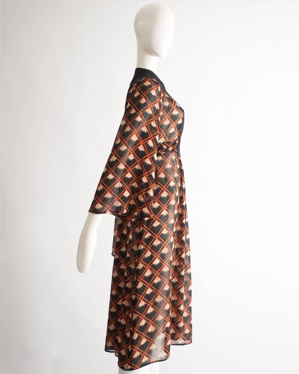 Ossie Clark chiffon mid-length dress with Celia Birtwell print, circa 1972 For Sale 2