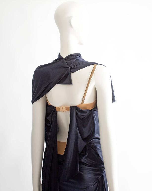 Margiela midnight blue draped evening dress, Spring-Summer 2012 9