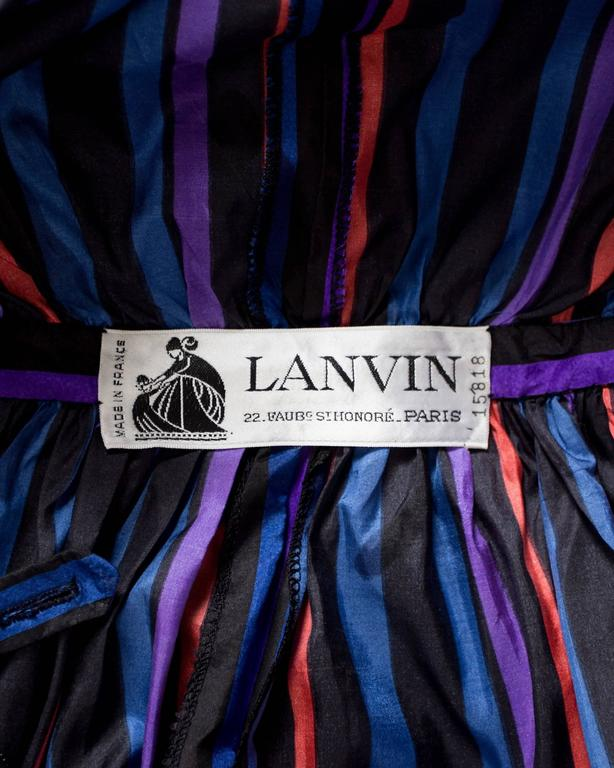 Lanvin Haute Couture silk taffeta off-the-shoulder evening dress, circa 1976 7