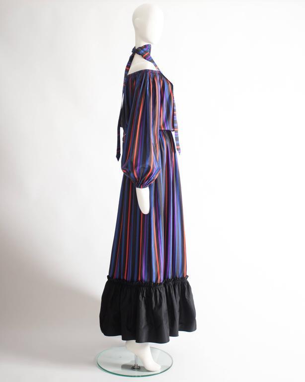 Lanvin Haute Couture silk taffeta off-the-shoulder evening dress, circa 1976 5