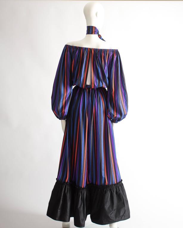 Lanvin Haute Couture silk taffeta off-the-shoulder evening dress, circa 1976 6