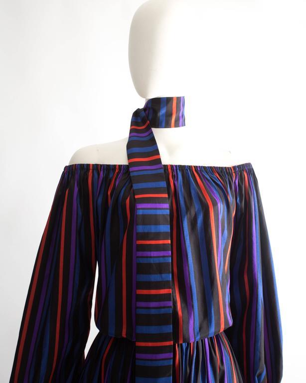 Lanvin Haute Couture silk taffeta off-the-shoulder evening dress, circa 1976 4