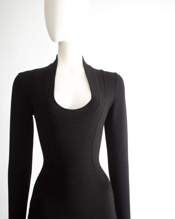 Alaia bodycon wool mini dress, circa 1990s 4