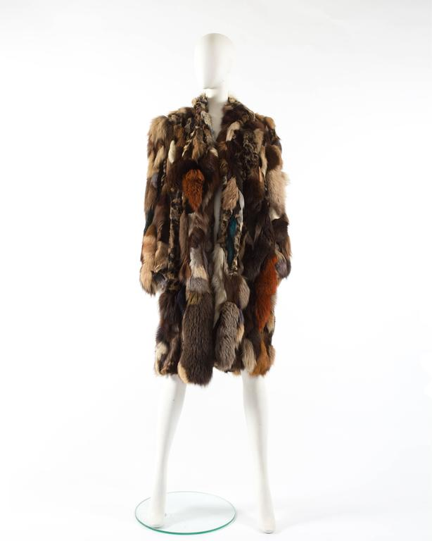 Patchwork fur coat by 'Octopus', circa 1970s 2
