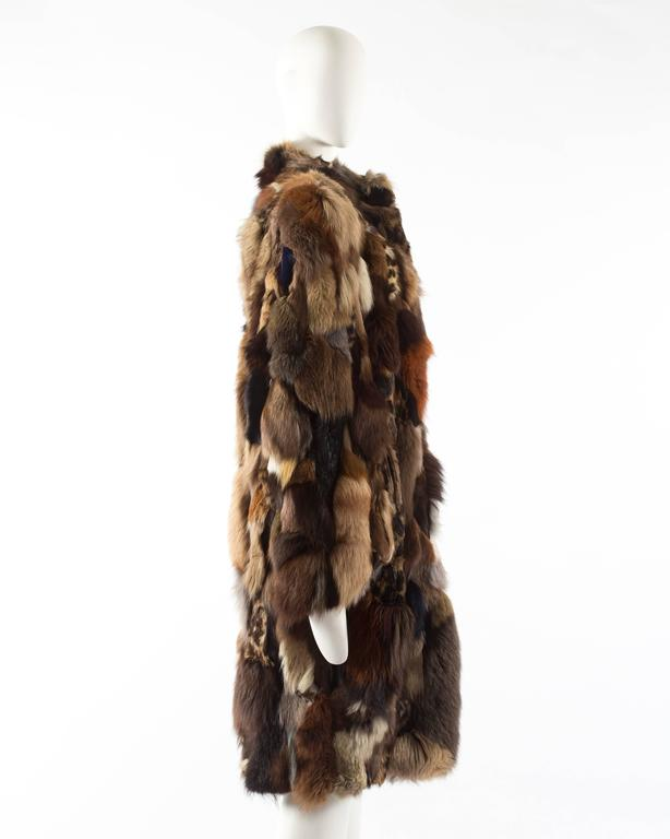 Patchwork fur coat by 'Octopus', circa 1970s 4