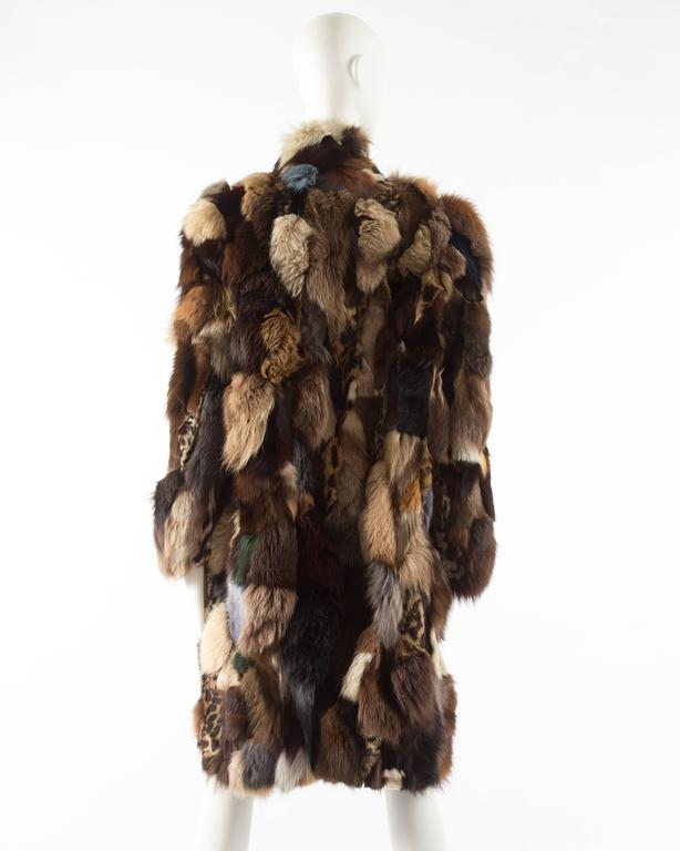 Patchwork fur coat by 'Octopus', circa 1970s 6