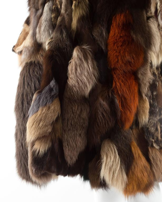 Patchwork fur coat by 'Octopus', circa 1970s 7