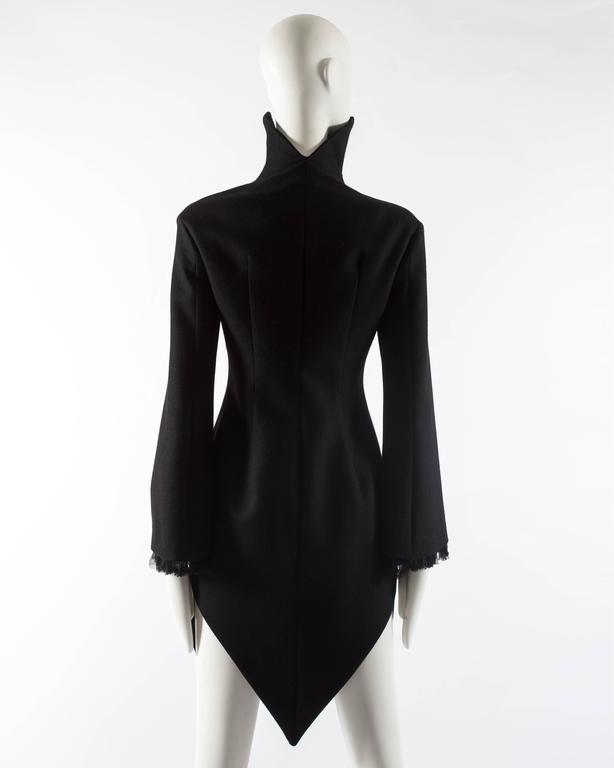 Alexander Mcqueen black wool evening coat, autumn-winter 2008 For Sale 1