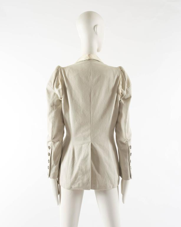 Margiela Spring-Summer 1993 ivory cotton canvas jacket 8