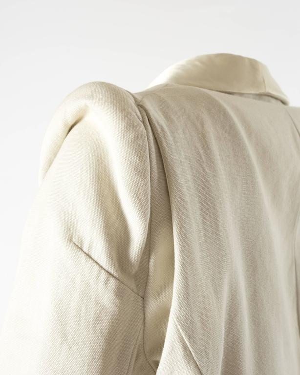 Margiela Spring-Summer 1993 ivory cotton canvas jacket 7