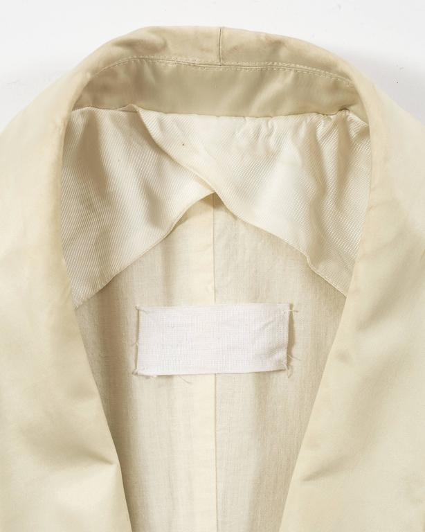 Margiela Spring-Summer 1993 ivory cotton canvas jacket 9