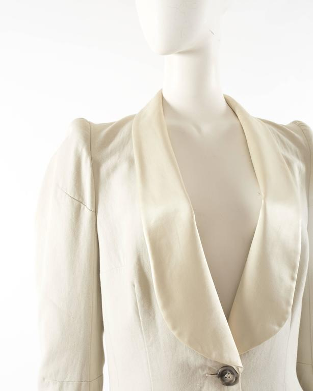 Margiela Spring-Summer 1993 ivory cotton canvas jacket 5