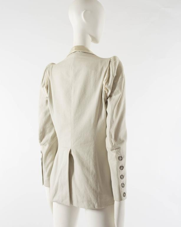 Margiela Spring-Summer 1993 ivory cotton canvas jacket 6