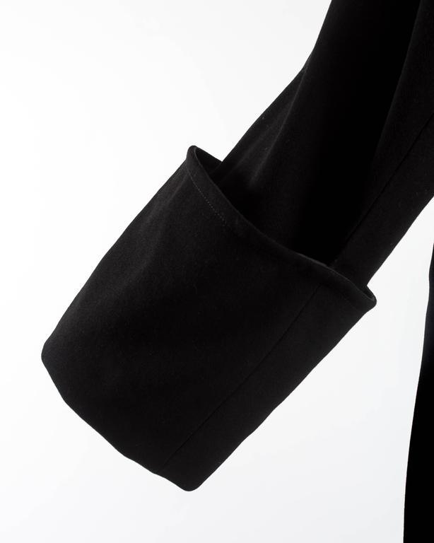 Margiela Autumn-Winter 1992 black cotton full length priest coat 5