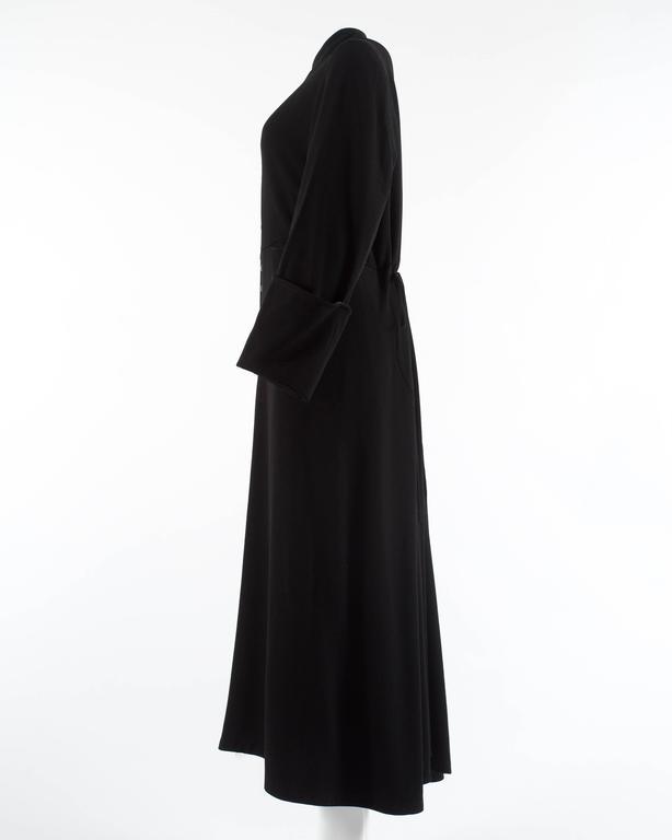 Margiela Autumn-Winter 1992 black cotton full length priest coat 6