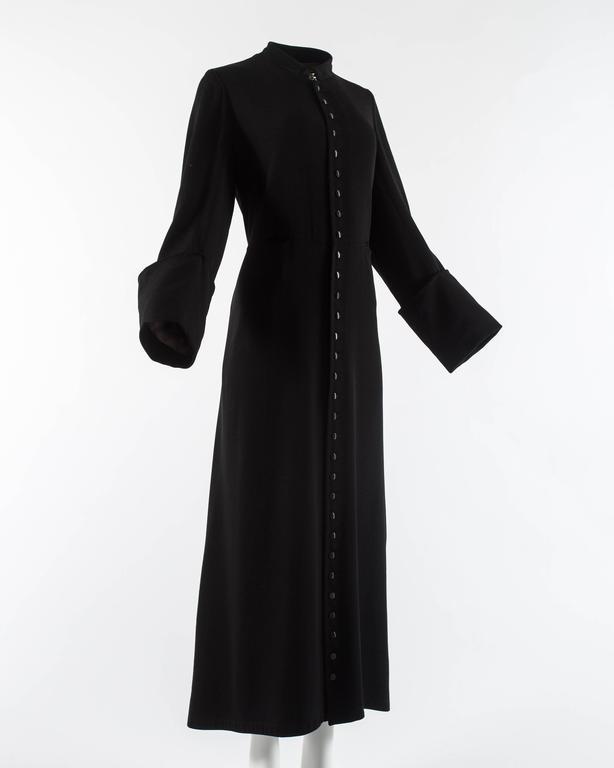 Margiela Autumn-Winter 1992 black cotton full length priest coat 3