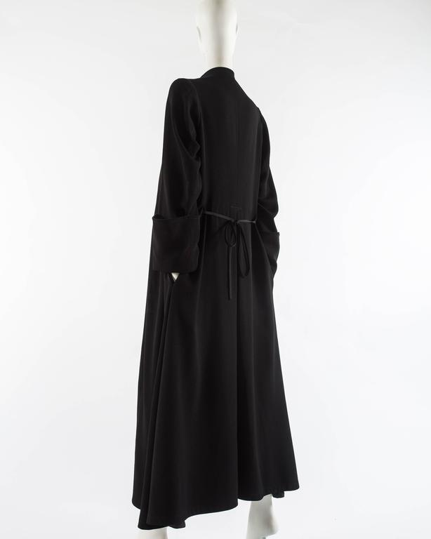 Margiela Autumn-Winter 1992 black cotton full length priest coat 8