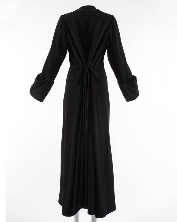 Margiela Autumn-Winter 1992 black cotton full length priest coat 4