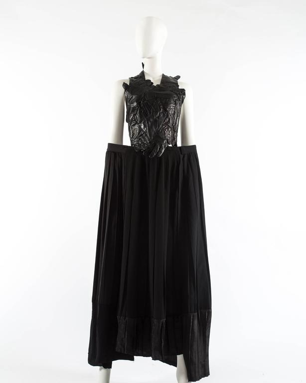 Margiela Spring-Summer 2001 artisanal leather glove top and skirt ensemble 4