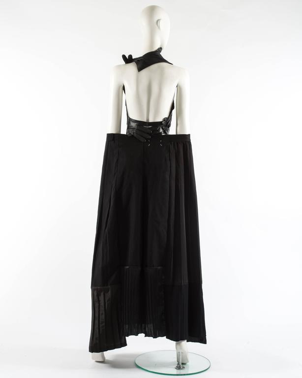 Margiela Spring-Summer 2001 artisanal leather glove top and skirt ensemble 7