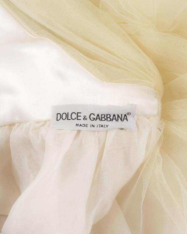 Dolce & Gabbana Autumn-Winter 1992 ivory tulle halter neck gown 6