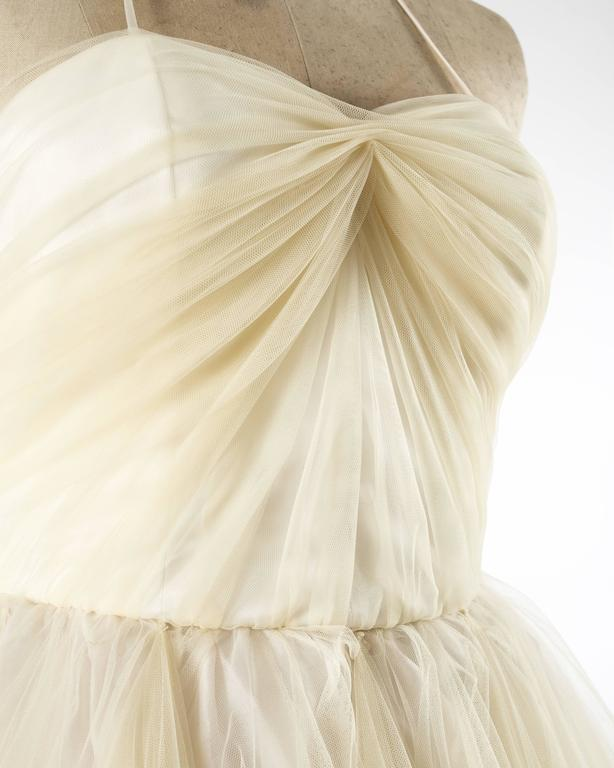 Dolce & Gabbana Autumn-Winter 1992 ivory tulle halter neck gown 3