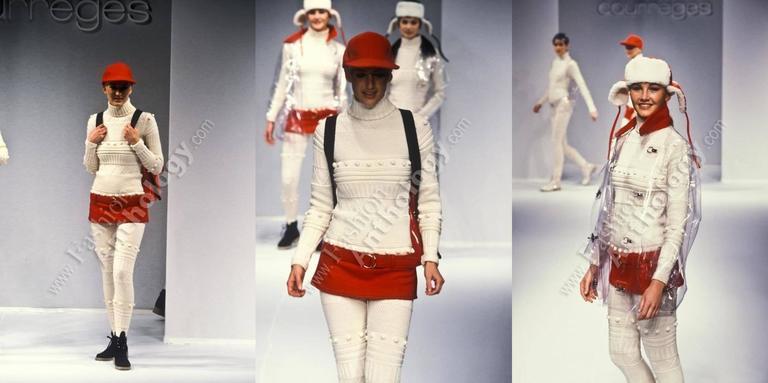 Courreges Autumn-Winter 1994 cream aran knit wool jumpsuit 2