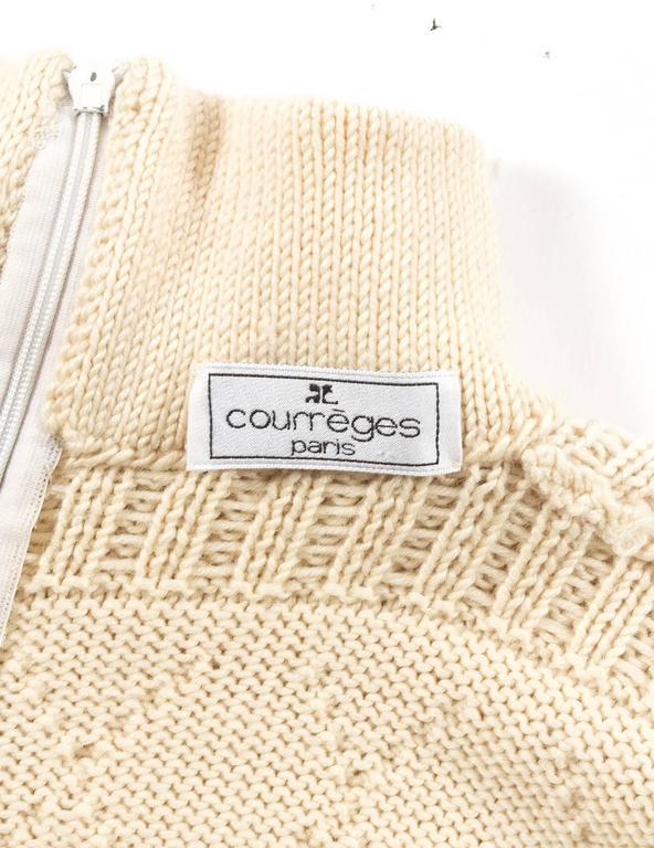 Courreges Autumn-Winter 1994 cream aran knit wool jumpsuit 10