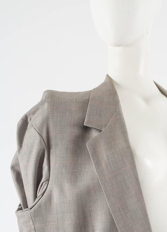 Women's Maison Martin Margiela Autumn-Winter 1997 oversized blazer with inverted sleeves For Sale