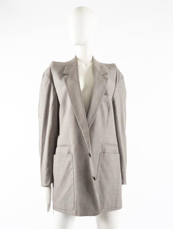 Maison Martin Margiela Autumn-Winter 1997 oversized blazer with inverted sleeves For Sale 4
