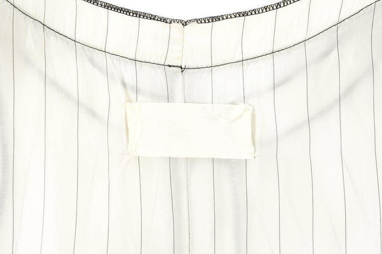 Maison Martin Margiela Spring-Summer 1991 inverted pinstripe vest For Sale 1