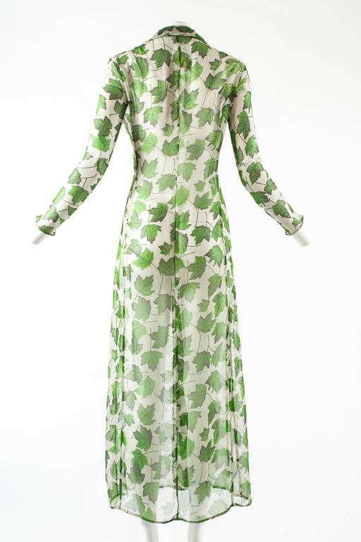 Dolce & Gabbana Spring-Summer 1997 chiffon dress with foliage print For Sale 1