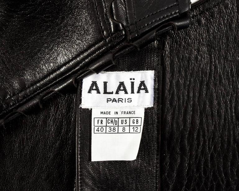 Alaia Spring-Summer 1992 black leather lace up bra 7