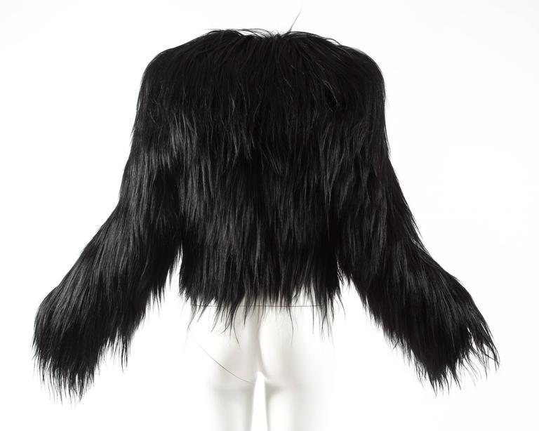 Alaia black goat hair jacket 4