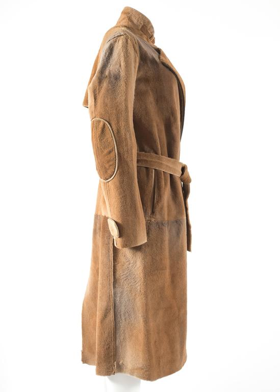 Women's Tom Ford for Yves Saint Laurent 2002 oversized sheared fur patchwork coat  For Sale