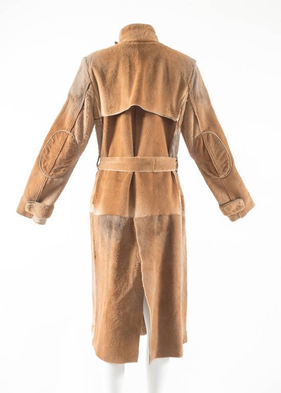 Tom Ford for Yves Saint Laurent 2002 oversized sheared fur patchwork coat  For Sale 2