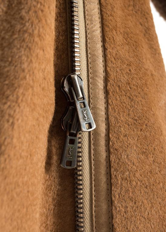 Tom Ford for Yves Saint Laurent 2002 oversized sheared fur patchwork coat  For Sale 4