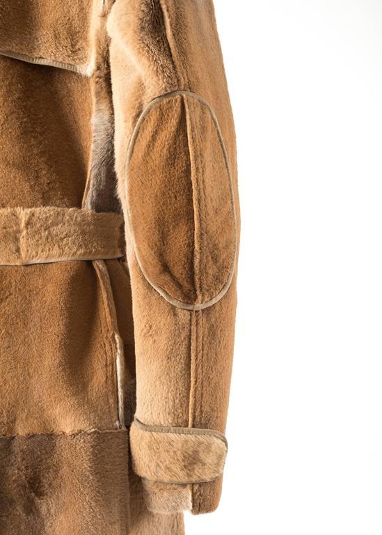 Tom Ford for Yves Saint Laurent 2002 oversized sheared fur patchwork coat  For Sale 3