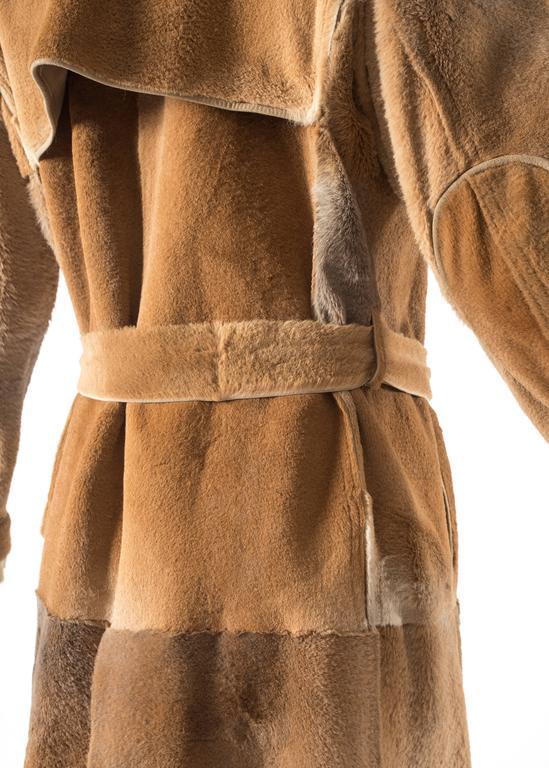 Tom Ford for Yves Saint Laurent 2002 oversized sheared fur patchwork coat  For Sale 1