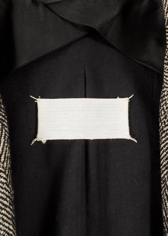 Maison Martin Margiela 1990s herringbone tweed double breasted jacket For Sale 1