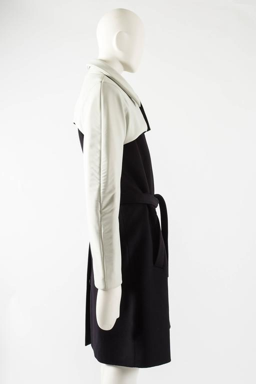 Raf Simons Autumn-Winter 2009 black wool coat with neoprene sleeves 6