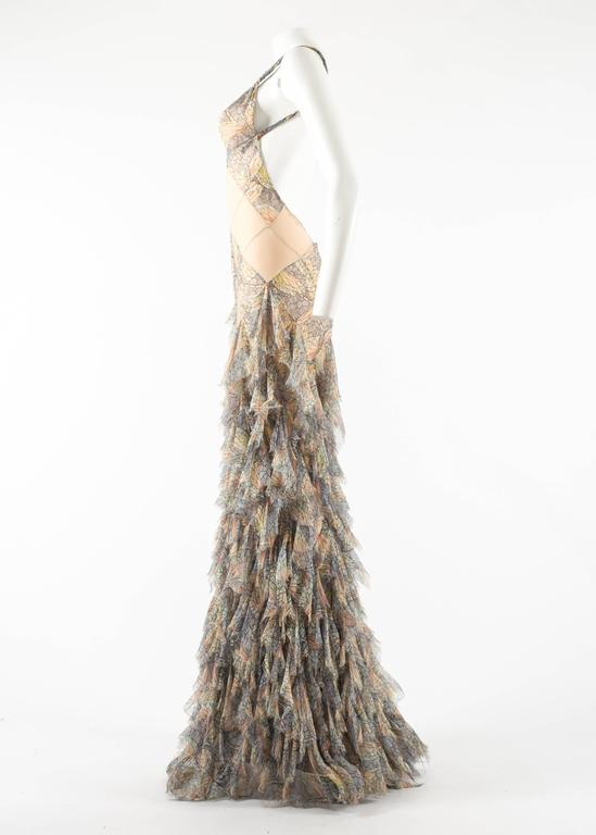 Alexander McQueen Spring-Summer 2004 'Deliverance' silk chiffon evening gown For Sale 4