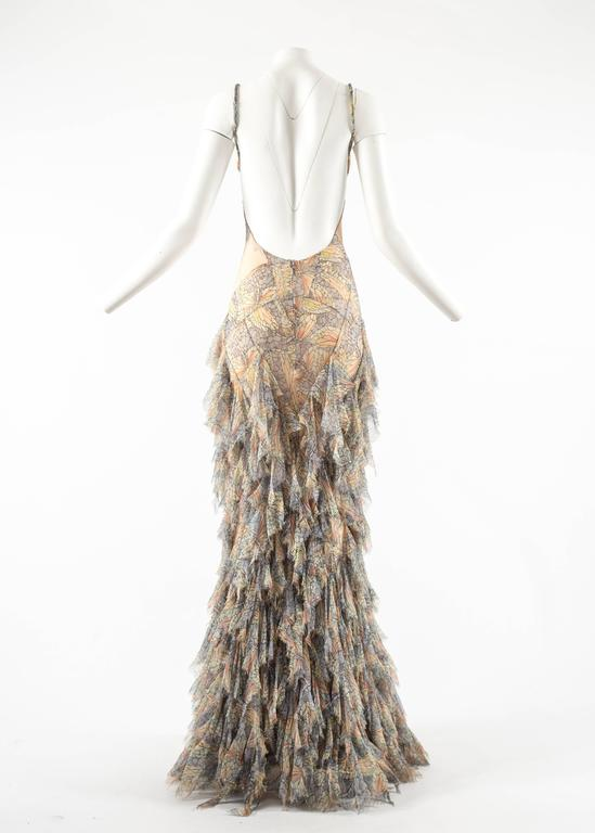 Alexander McQueen Spring-Summer 2004 'Deliverance' silk chiffon evening gown For Sale 5