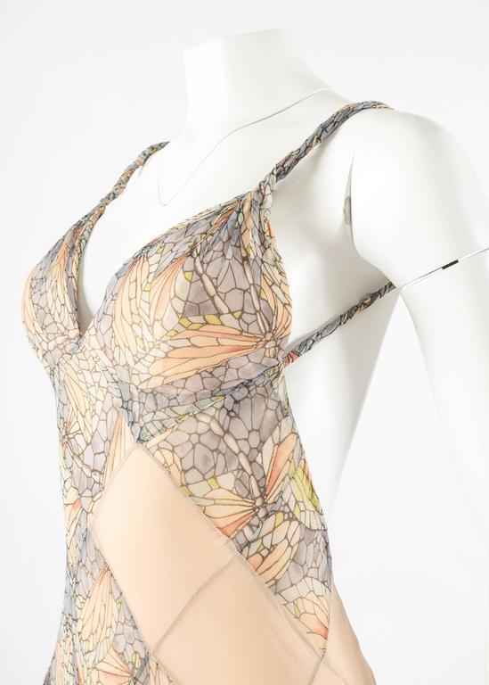 Alexander McQueen Spring-Summer 2004 'Deliverance' silk chiffon evening gown 7